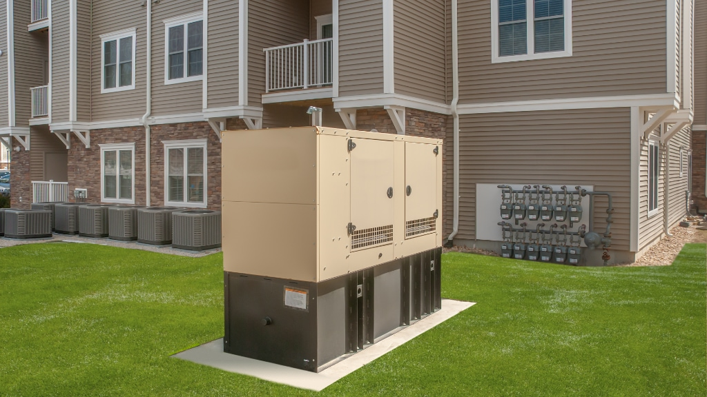 Commercial generator service.