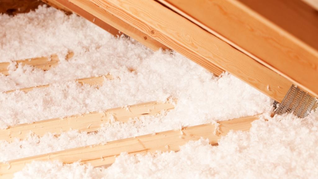 Blown-in attic insulation service.
